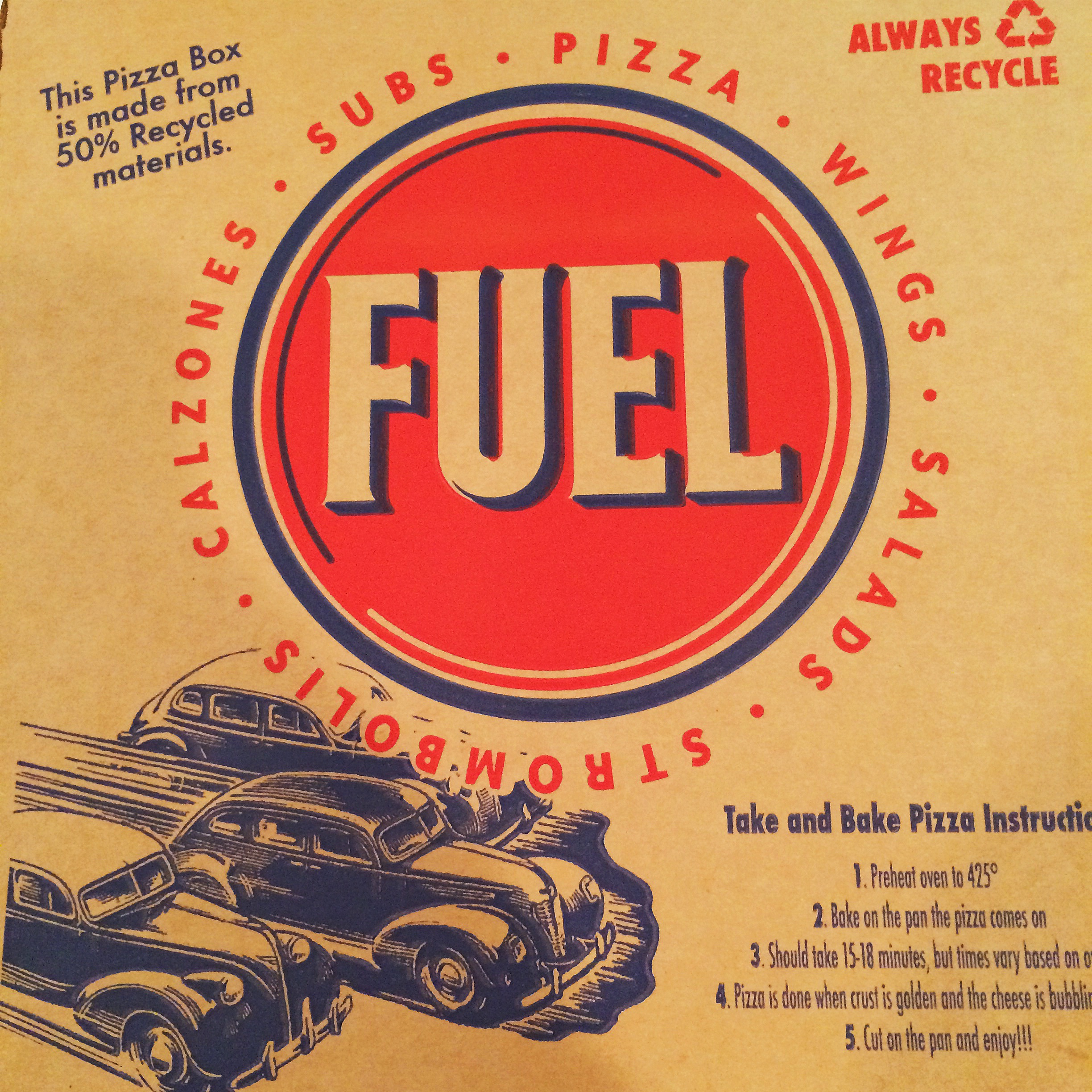 Gluten Free At Fuel Pizza