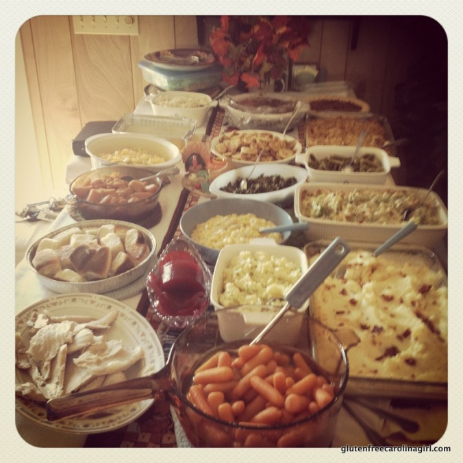 Last year's (mostly) gluten free Thanksgiving feast