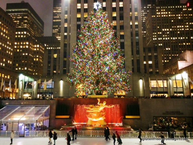 Ice skating at the tree at Rockefeller Center