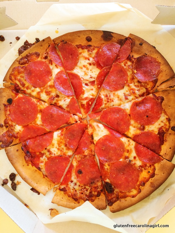 Pizza Hut's Gluten Free Pepperoni Pizza